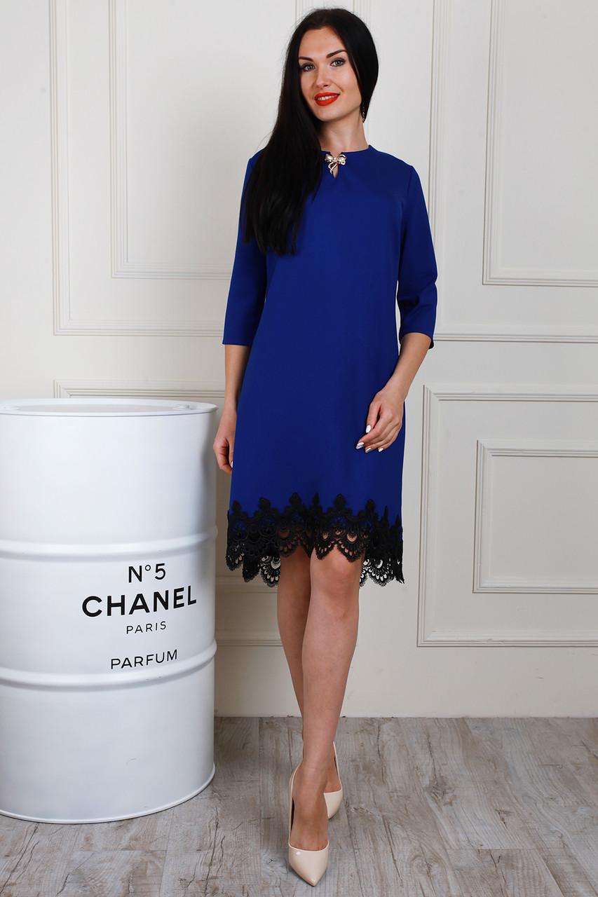 Очень красивое женское модное платье из трикотажа Алекс с кружевом - Exclusive в Хмельницком