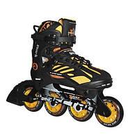 Спортивні чоловічі роликові ковзани чорно-жовті Tempish Tempish I-MAX II 84, Київ 45
