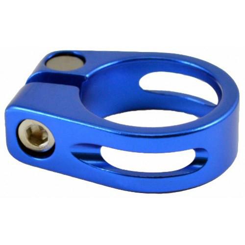Хомут подседельный КL68 Ф30.2мм болт синий