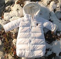 """Комбинезон зимний для новорожденных """"White Sun"""" белый+ сумка в подарок. р.56,62,68"""