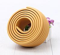 Защитная лента на углы мебели - ребристая. Коричневый., фото 1