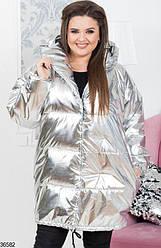 Куртка зимняя зефирка плащевка ORIGINAL SILVER XL