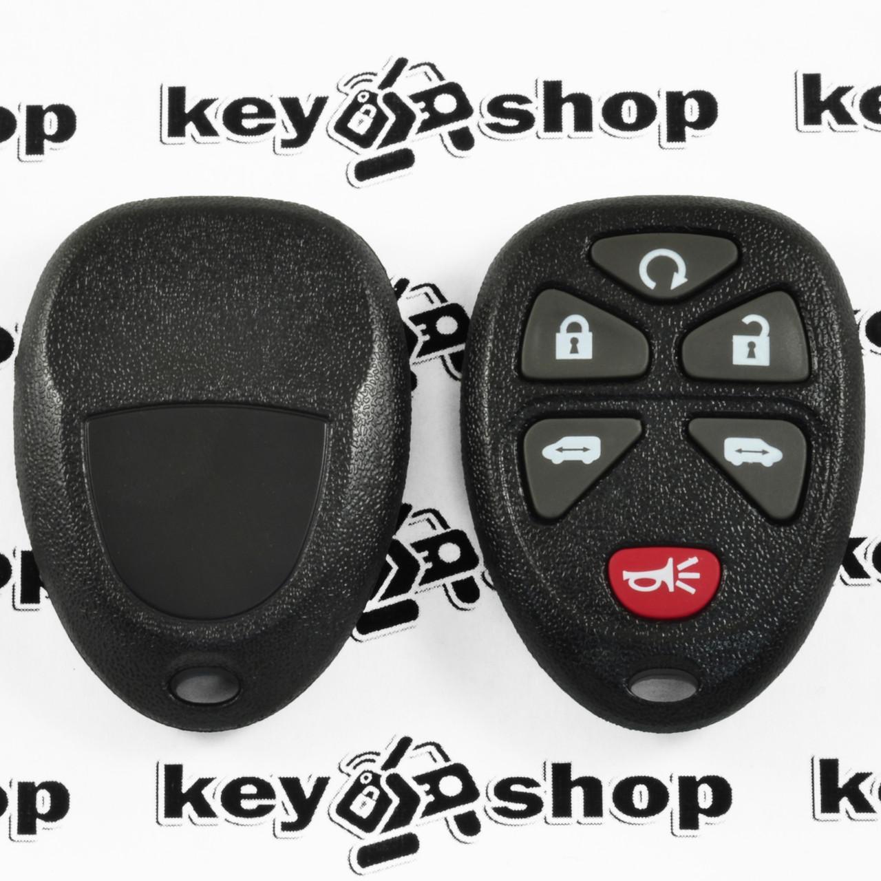 Оригинальный пульт Кадиллак (Cadillac), 5 + 1 (panic) кнопки, 315MHz, FCCID: KOBGT04A