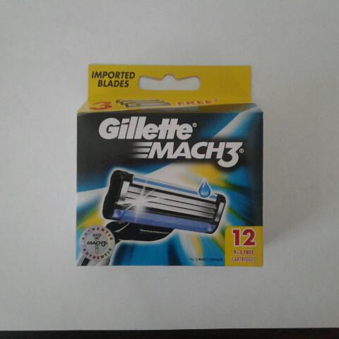 Кассеты мужские для бритья Gillette Mach 3 12 шт. ( Жиллет Мак 3 Оригинал сделано в Германии для Индии), фото 1