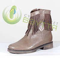 Кожаные  ботинки зимние 37 размер
