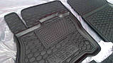 Килимки салона гумові Citroen C3 Picasso 2009->, кт - 4шт, фото 4