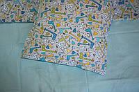 """Детское постельное белье для мальчиков """"Жираф"""",полуторное."""