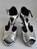 Танцевальные туфли латина открытый носок небольшой каблук 37 размер