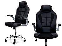 Кресло офисное SPORT Calviano черное + настенные часы
