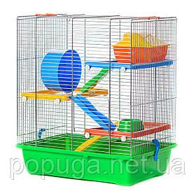 Клетка для грызунов, цинк GINO 2+ PLASTIC InterZoo 42*29*49 см