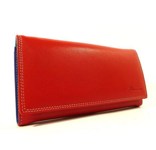 Кошелек кожаный женский красный Prensiti 122-6604