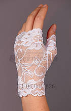 Свадебные  белые перчатки.