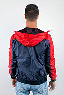 Ветровка мужская легкая №57F106 (Сине-красный)