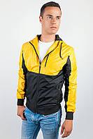 Ветровка мужская легкая №57F106 (Черно-желтый)