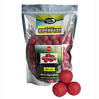 Бойлы растворимые Soluble EuroBase Boilies Strawberries (Клубника) 24 mm