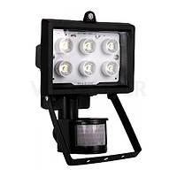Прожектор светодиодный с датчиком движения e.light.LED.sensor.150.6.6.6000.black 6Вт черный