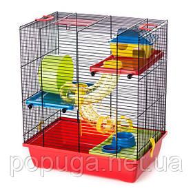 Клетка для грызунов, эмаль GINO 2+ TUBE InterZoo 42*29*49 см