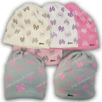 Вязаная шапка для девочки, р. 48-50, K447