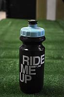 Фляга 600ml Green Cycle Ride Me Up черно-голубая, фото 1