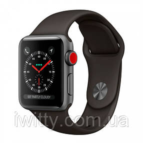 Watch Series 3 GPS + Cellular 38mm Space Black Stainless Steel with Black Sport Band (MQJW2), фото 2