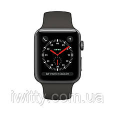 Watch Series 3 GPS + Cellular 38mm Space Black Stainless Steel with Black Sport Band (MQJW2), фото 3