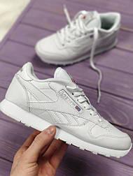 Кроссовки Reebok Classic white (унисекс). Живое фото (Реплика ААА+)