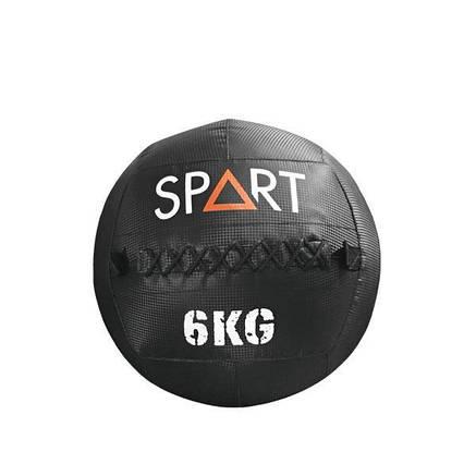 Большой кожаный  метбол 6 кг SPART Medicine Wall Ball для дома и спортзала, Киев, фото 2