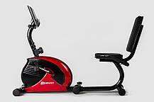 Горизонтальный велотренажер Hop-Sport HS-65R VEIRON red/black для дома и спортзала, Львов, фото 2