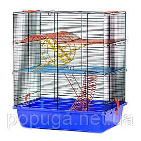 Клетка для грызунов, эмаль GINO 2+EQUIPMENT InterZoo 42*29*49 см