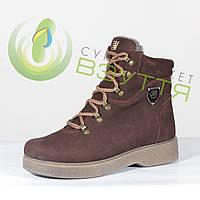 Зимние  ботинки женские из нубука