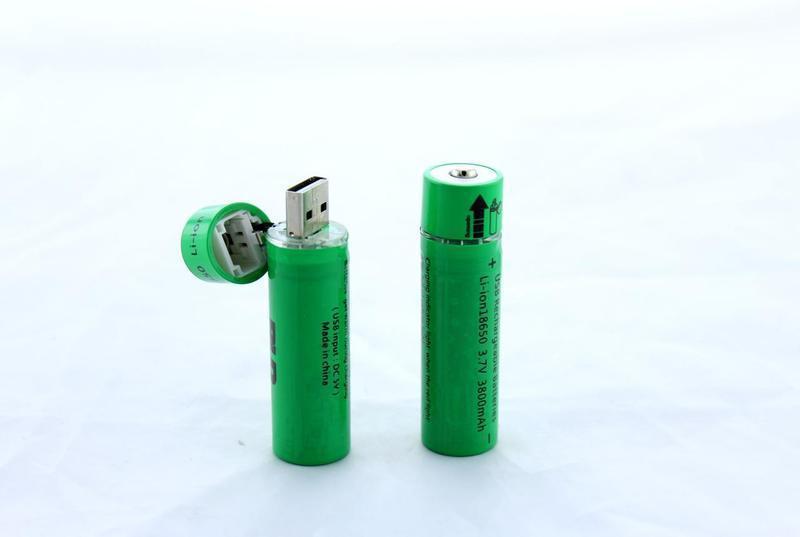 Батарейка BATTERY USB18650 c USB зарядкой  500
