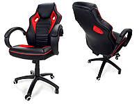 Кресло офисное XRACER RS Calviano черное с красным