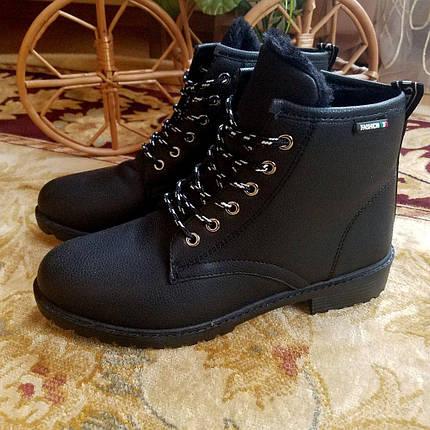 Черные женские ботинки эко кожаные 39 РАЗМЕР, фото 2