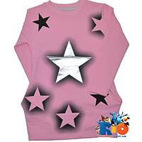 Детская туника с карманами, из тонкого трикотажа (100% коттон), для девочки 6-8-10-12 лет (4 ед в уп)