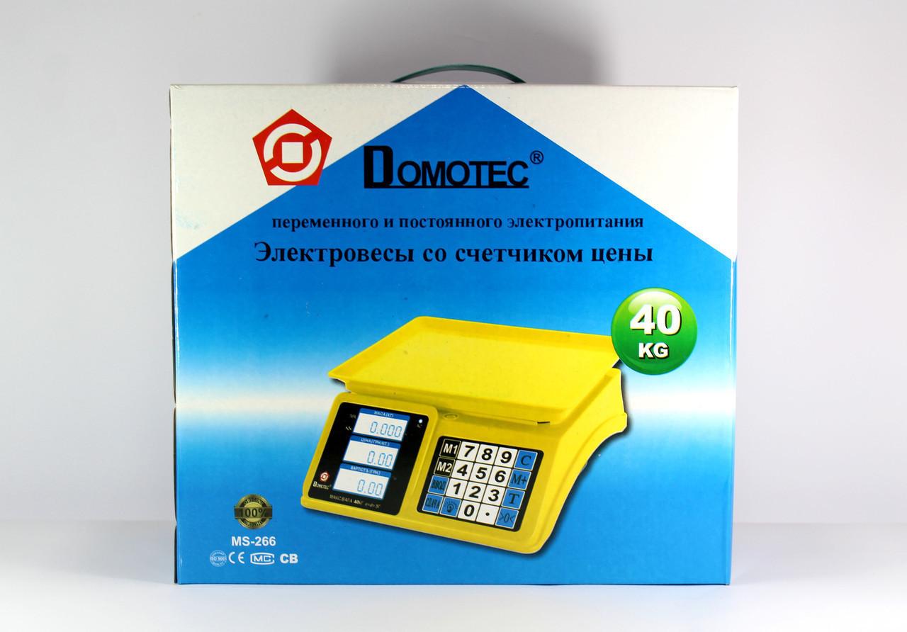 Весы ACS 40kg/5g MS 266 Domotec 4V  8
