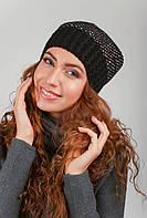 Шапка женская вязаная, теплая AG-0002625 Черный
