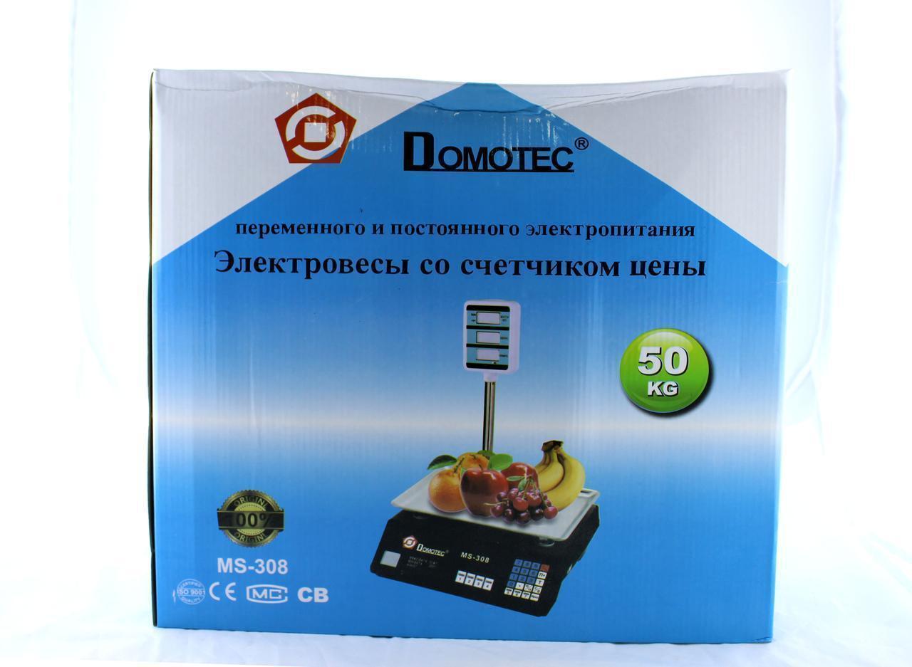 Весы ACS 50kg/5g + pole 208 Domtec  Только ящиком!   4