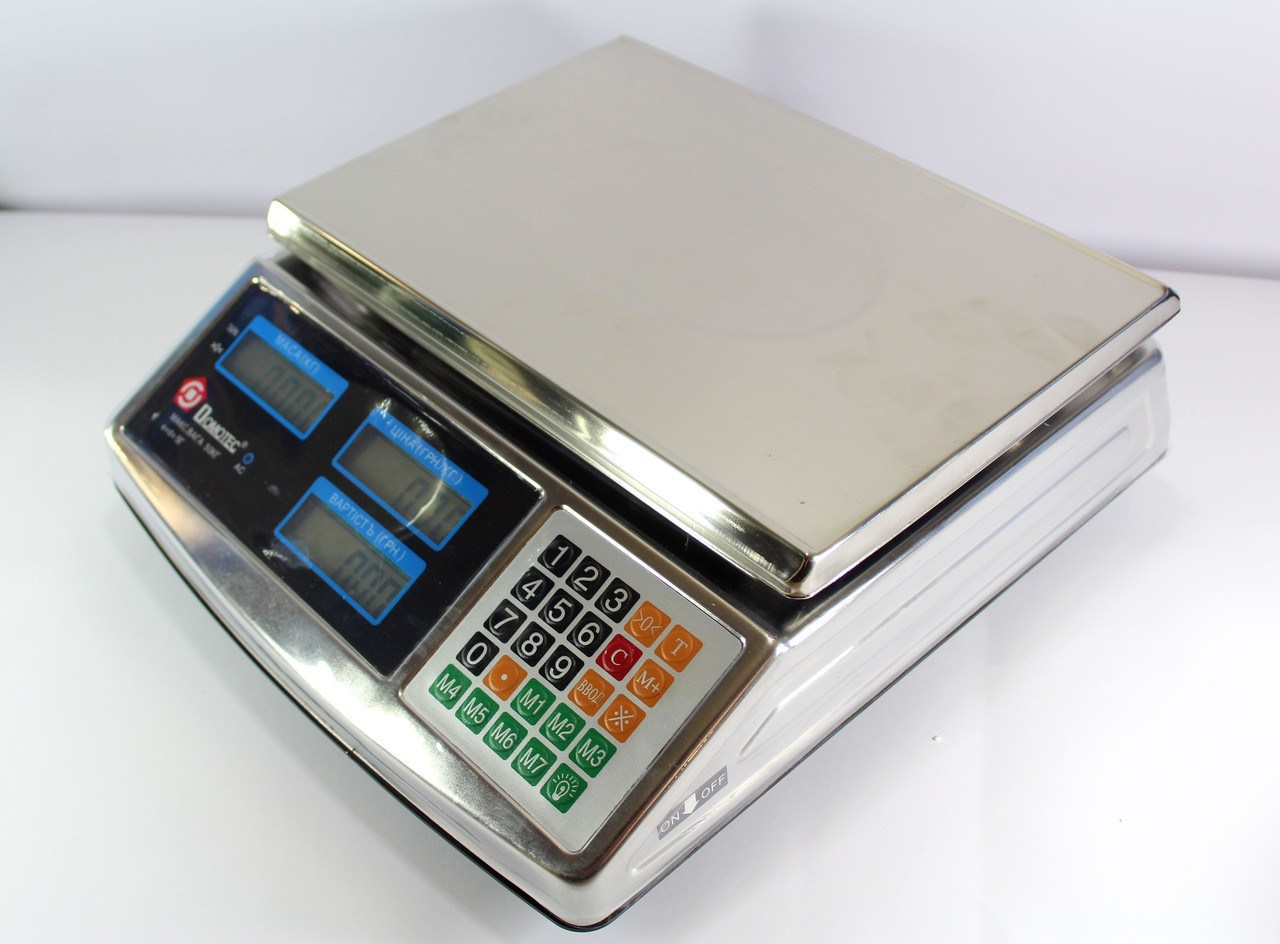 Весы ACS 50kg/5g MS 968 Domotec 6V Метал  5