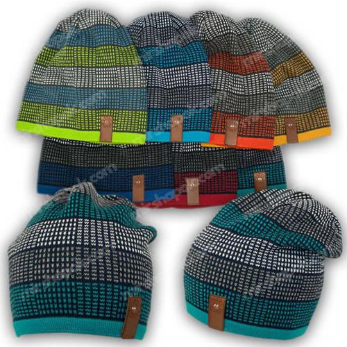 Вязаная шапка для мальчика, р. 50-52, K476