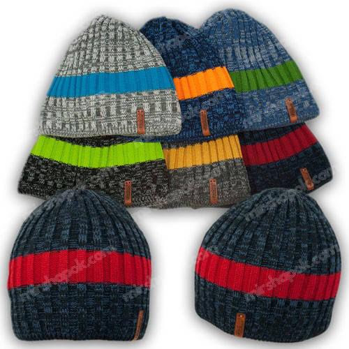 Вязаная шапка для мальчика, р. 52-54, K481