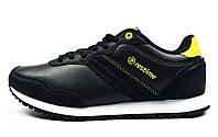 Черные кроссовки женские, подростковые Restime для спорта и повседневной носки, фото 1