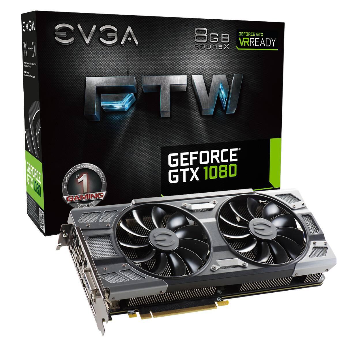 """Видеокарта EVGA GTX1080 FTW GAMING ACX 3.0 (08G-P4-6286-KR) """"Over-Stock"""" Б/У"""