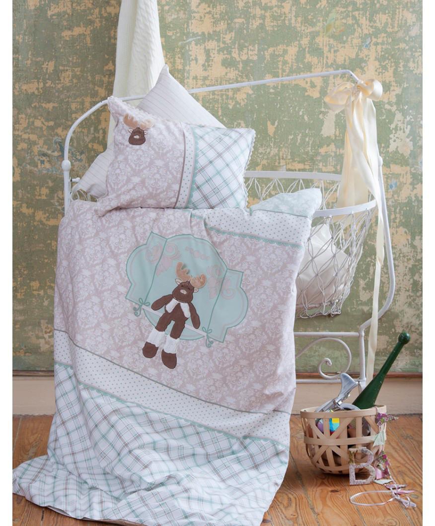 Постельное белье для младенцев Karaca Home - Deer аппликация зеленое