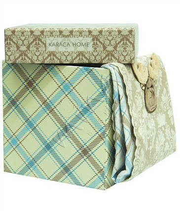 Постельное белье для младенцев Karaca Home - Deer аппликация голубое , фото 2