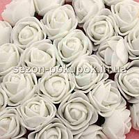 ОПТ роза латекс 2см (цена за пачку 144 шт) цвет-Молочный