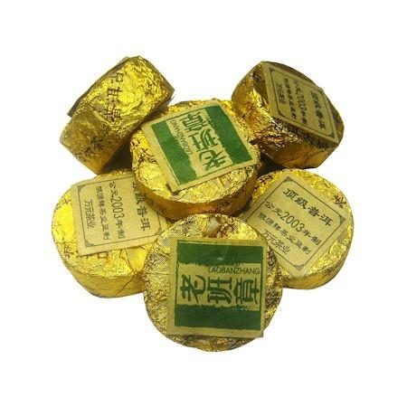 Пуэр зеленый пресованный медаль