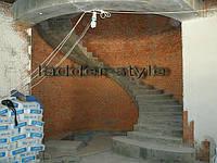 Лестница бетонная винтообразная  проект изготовление под заказ