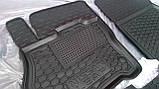 Килимки салона гумові Mercedes-Benz E-klasse W-210 1995-2003, кт - 4шт, фото 4
