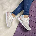 Женские кроссовки New Balance 574 grey/white. Топ качество. Живое фото (Реплика ААА+), фото 3
