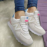 Женские кроссовки New Balance 574 grey/white. Топ качество. Живое фото (Реплика ААА+), фото 6